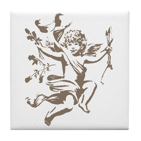Vintage Cupid Tile Coaster