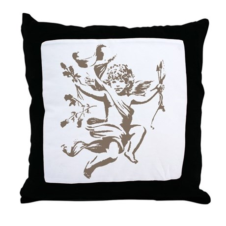 Vintage Cupid Throw Pillow
