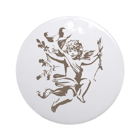 Vintage Cupid Ornament (Round)