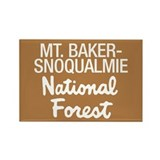 Mt. Baker-Snoqualmie Nat Forest Rectangle Magnet