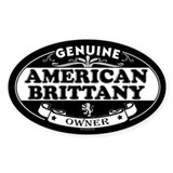 AMERICAN BRITTANY Oval Decal