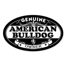 AMERICAN BULLDOG Oval Decal