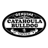 CATAHOULA BULLDOG Oval Decal