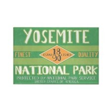 Yosemite National Park (Retro) Rectangle Magnet