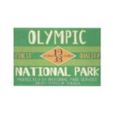 Olympic National Park (Retro) Rectangle Magnet