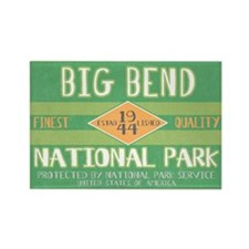 Big Bend National Park (Retro) Rectangle Magnet