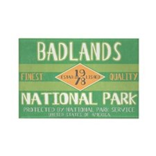 Badlands National Park (Retro) Rectangle Magnet