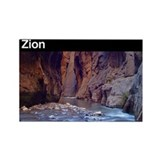 Zion National Park Rectangle Magnet