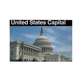 United States Capital Rectangle Magnet