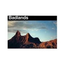 Badlands NP Rectangle Magnet