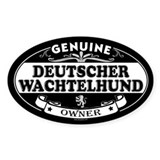 DEUTSCHER WACHTELHUND Oval Decal