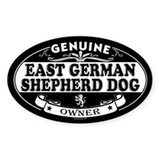 EAST GERMAN SHEPHERD DOG Oval Decal