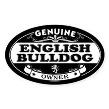 ENGLISH BULLDOG Oval Decal