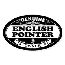 ENGLISH POINTER Oval Decal