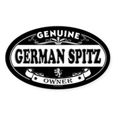 GERMAN SPITZ Oval Decal
