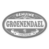 GROENENDAEL Oval Decal