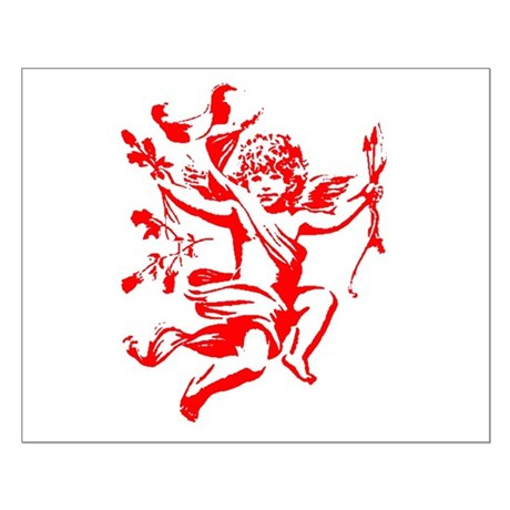 Vintage Cupid Small Poster