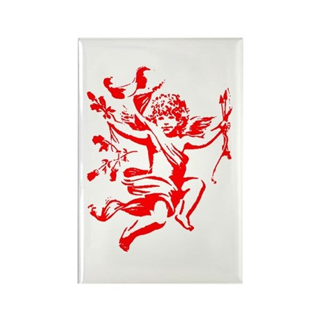 Vintage Cupid Rectangle Magnet (100 pack)