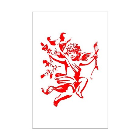 Vintage Cupid Mini Poster Print