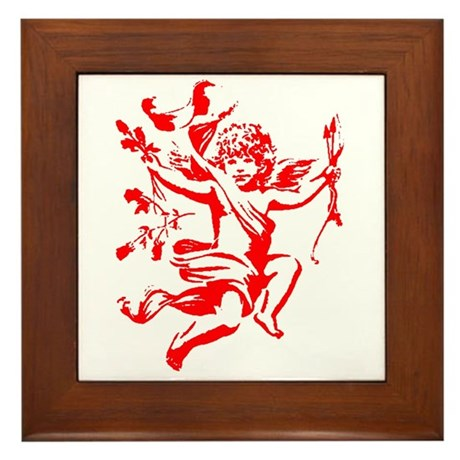 Vintage Cupid Framed Tile