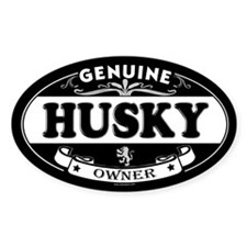 HUSKY Oval Decal