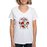 Padro Family Crest Women's V-Neck T-Shirt