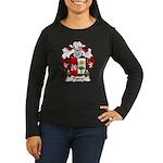 Padro Family Crest Women's Long Sleeve Dark T-Shir