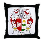 Padro Family Crest Throw Pillow