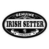 IRISH SETTER Oval Decal