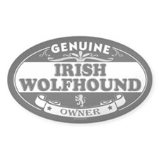 IRISH WOLFHOUND Oval Decal