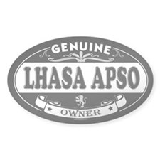 LHASA APSO Oval Decal