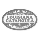 LOUISIANA CATAHOULA LEOPARD DOG Oval Decal