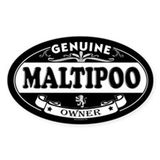 MALTIPOO Oval Decal