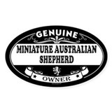 MINIATURE AUSTRALIAN SHEPHERD Oval Decal