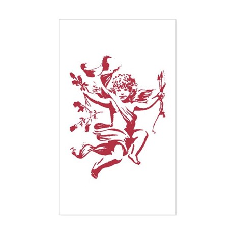 Vintage Cupid Rectangle Sticker