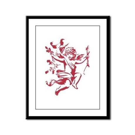 Vintage Cupid Framed Panel Print