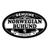 NORWEGIAN BUHUND Oval Bumper Stickers