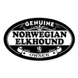 NORWEGIAN ELKHOUND Oval Decal