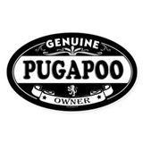 PUGAPOO Oval Decal