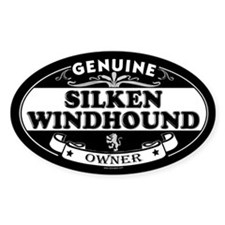 SILKEN WINDHOUND Oval Decal