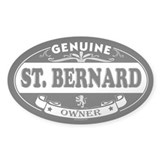 ST. BERNARD Oval Decal