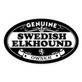 SWEDISH ELKHOUND Oval Decal