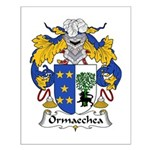 Ormaechea Family Crest Small Poster