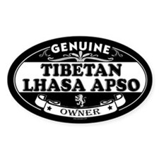 TIBETAN LHASA APSO Oval Decal