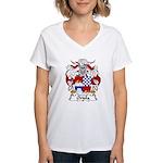 Oriola Family Crest  Women's V-Neck T-Shirt