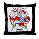 Oriola Family Crest  Throw Pillow