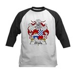 Oriola Family Crest  Kids Baseball Jersey