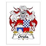 Oriola Family Crest  Small Poster