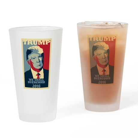TRUMP PARODY WE SHALL OVERCOMB POSTER STYLE Drinki