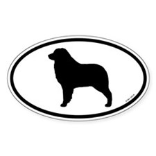 Australian Shepherd Oval Decal